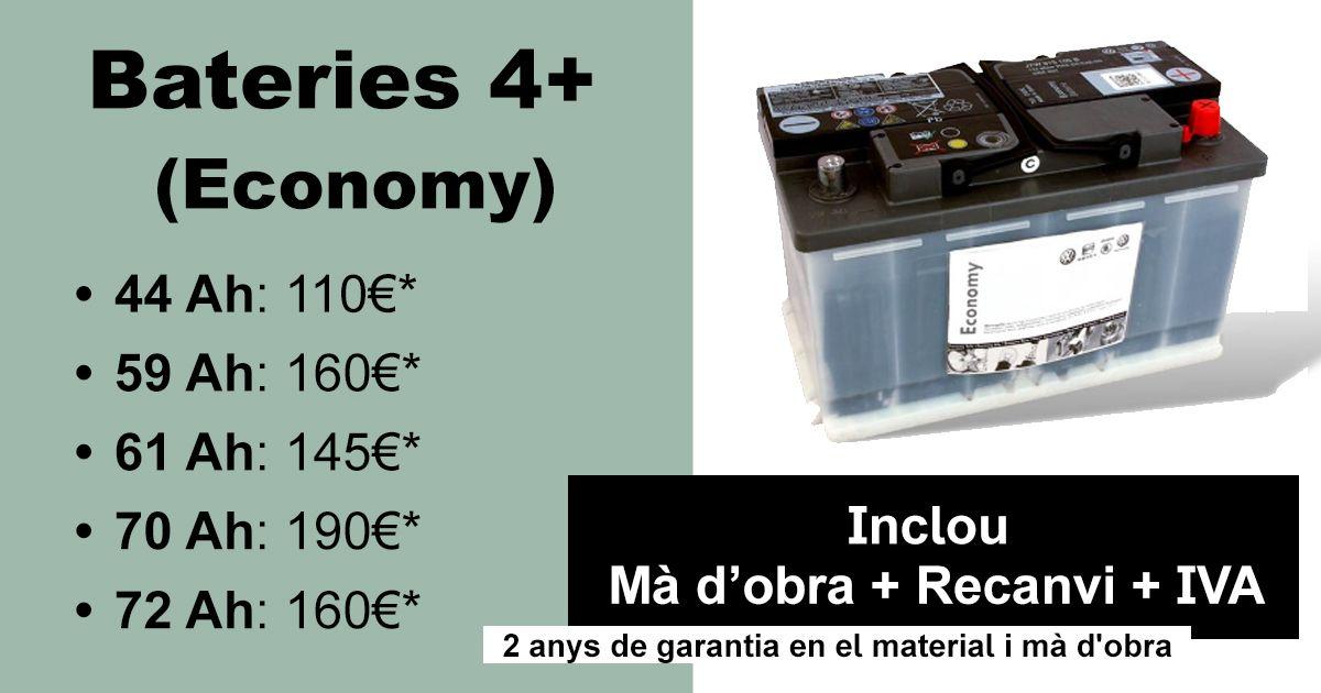 SEAT: CANVI DE BATERIA SEAT 4+ (ECONOMY)