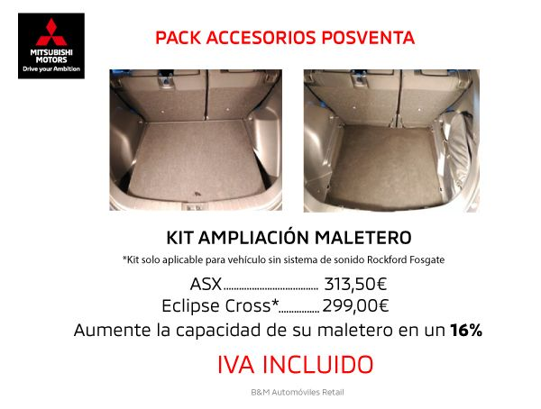 OFERTA AMPLIACION DE MALETERO PARA TU ECLIPSE CROSS