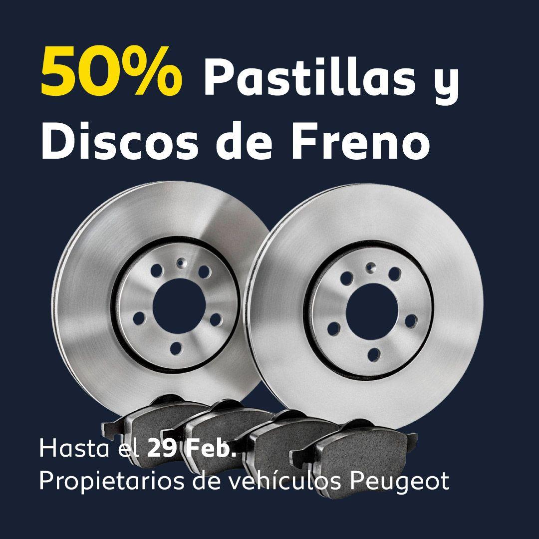 50% en Pastillas y Discos de freno