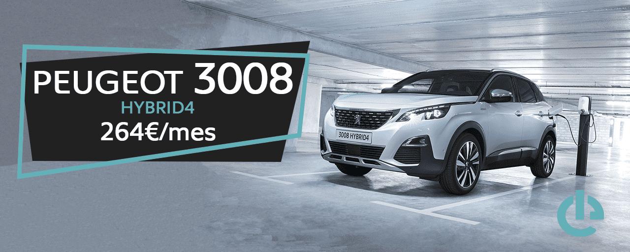Nuevo Peugeot 3008 Hybrid4 por 264€/mes