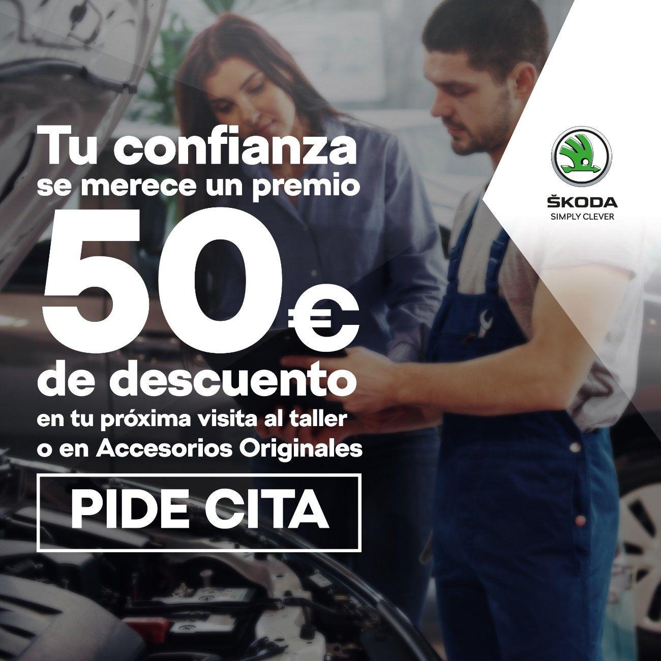 TU CONFIANZA TIENE PREMIO, 50€ DE DESCUENTO EN TU PRÓXIMO PASO POR TALLER