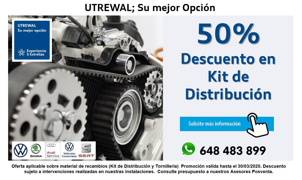 CAMBIO KIT DE DISTRIBUCIÓN AL 50%