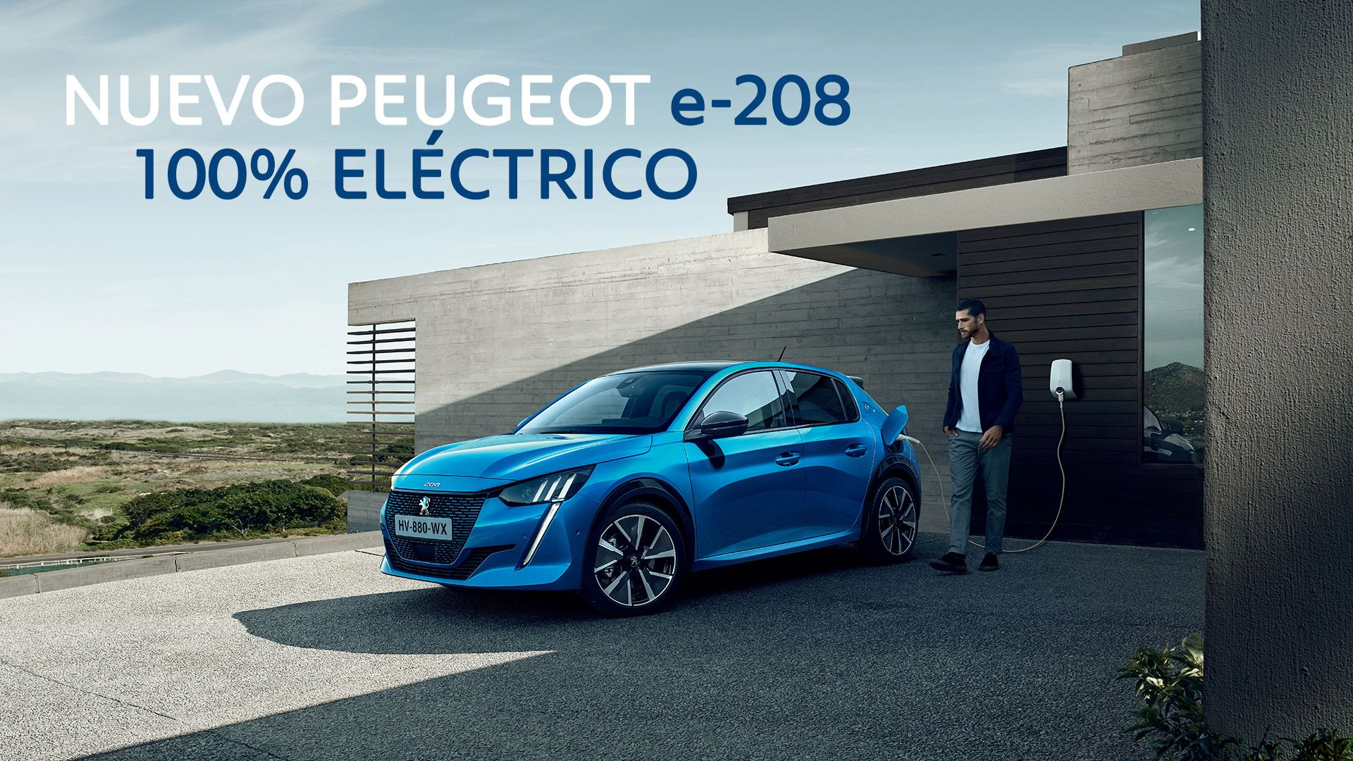Conduce el nuevo Peugeot e-208 100% eléctrico por 250€/mes