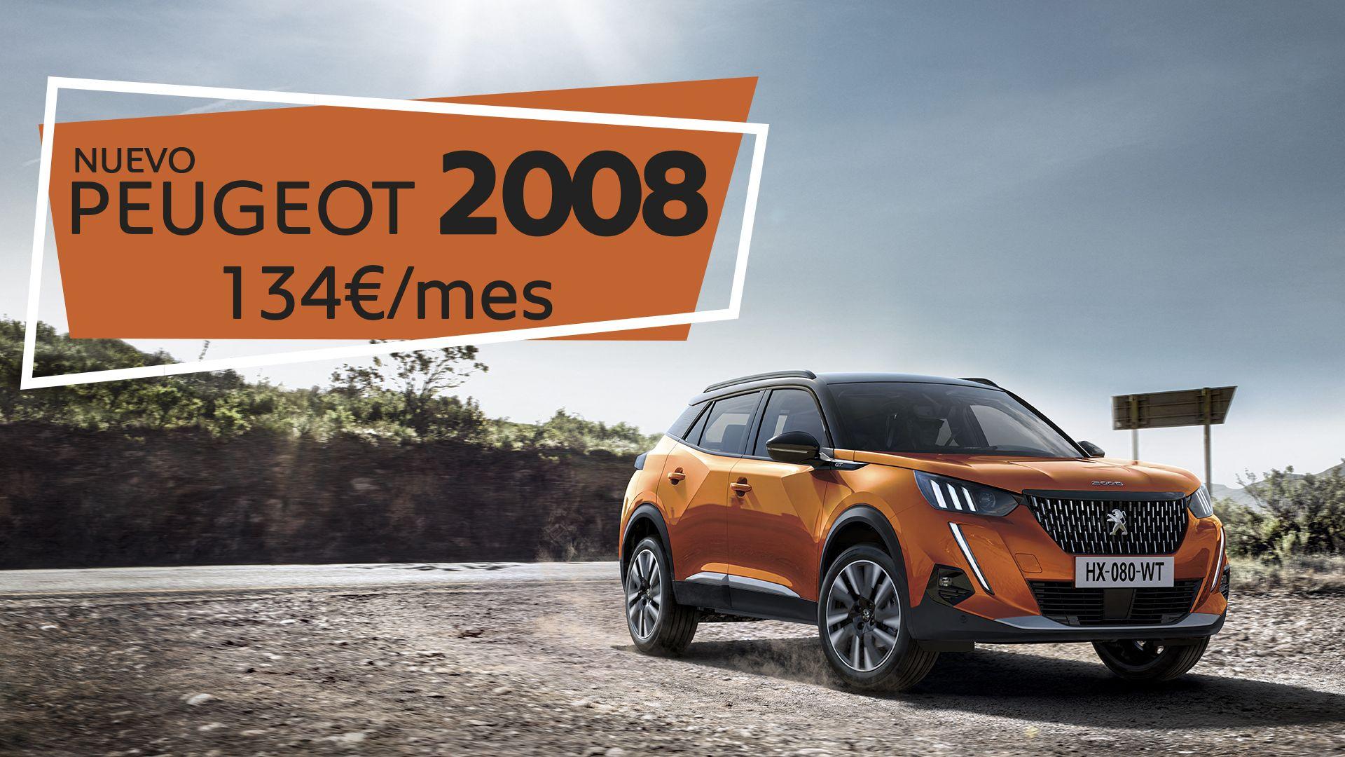 Disfruta del NUEVO Peugeot 2008 por sólo 134€/mes