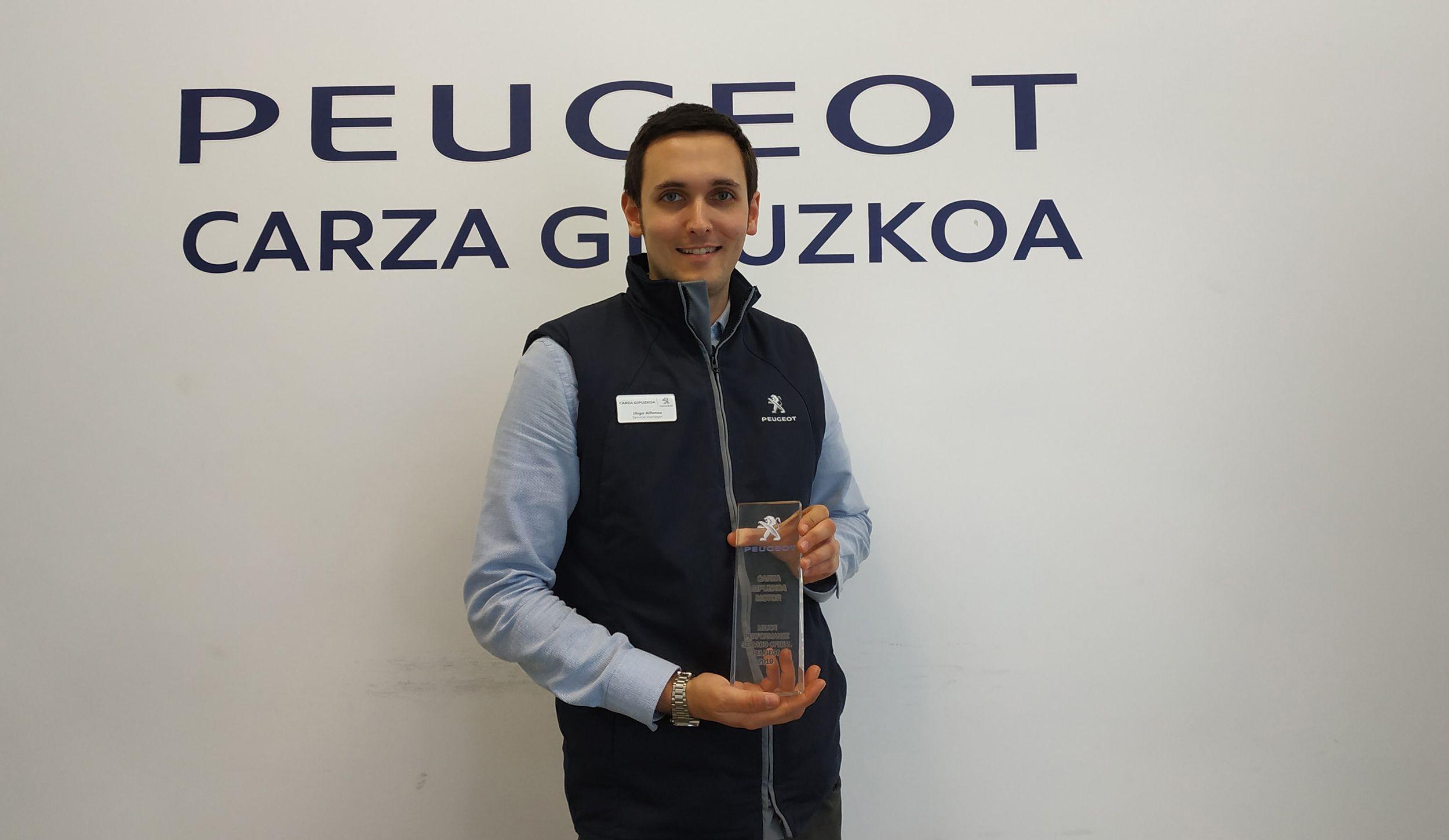 Peugeot reconoce a Carza Gipuzkoa con el premio a Mejor Performance 2019