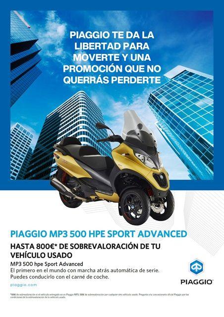 MP3 500 HPE SPORT ADVANCE CON HASTA 800€ DE DESCUENTO