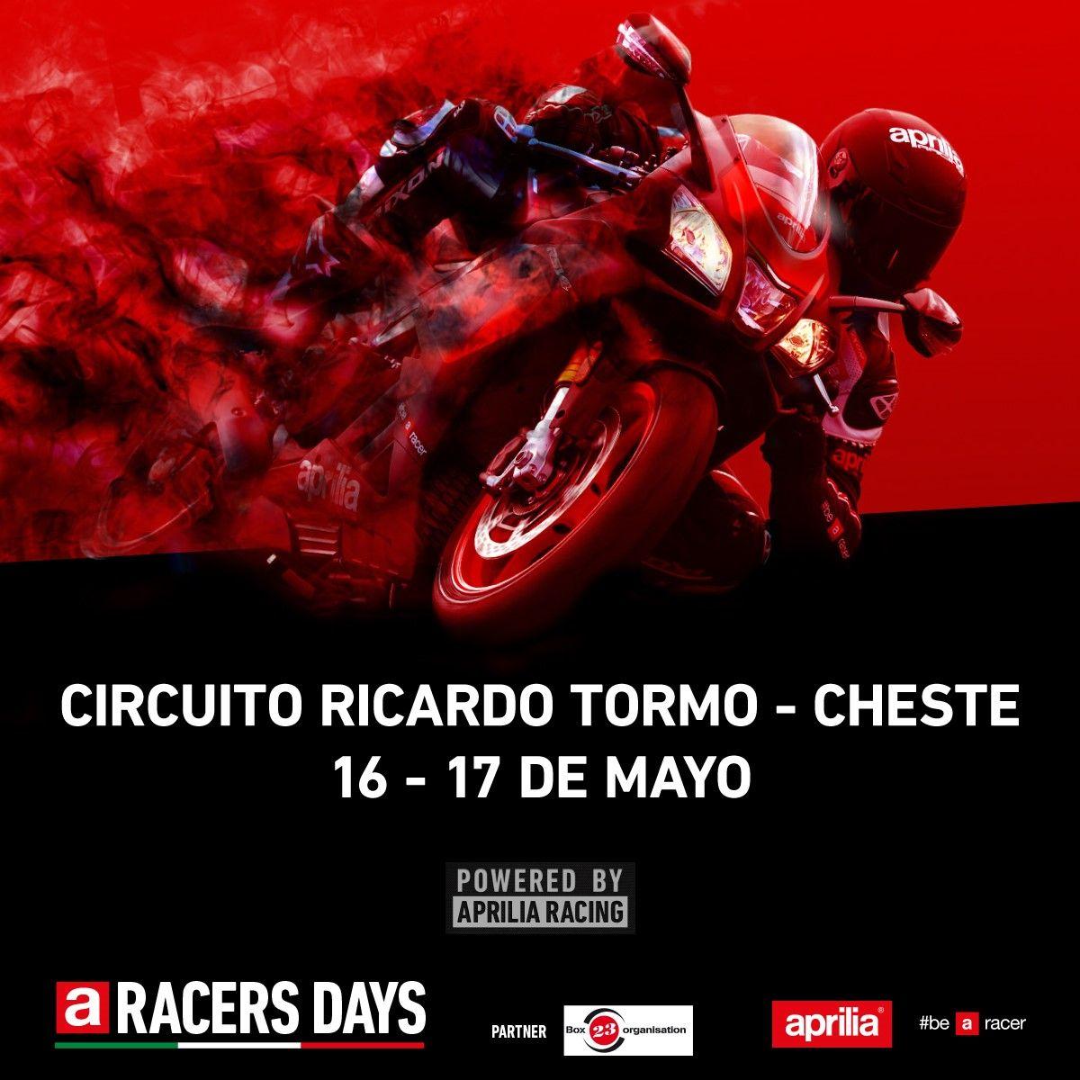 Aprilia Racer Day, 16 y 17 de mayo en el Circuito Ricardo Tormo de Valencia