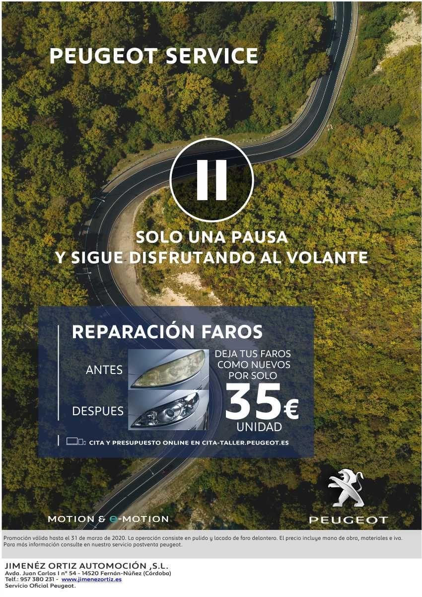 Promoción Reparación de Faros