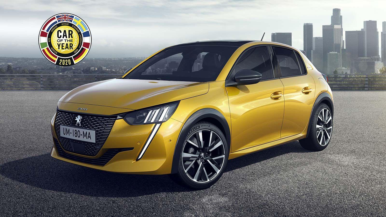 El Peugeot 208 ha ganado el prestigioso premio'Coche del Año en Europa 2020'.