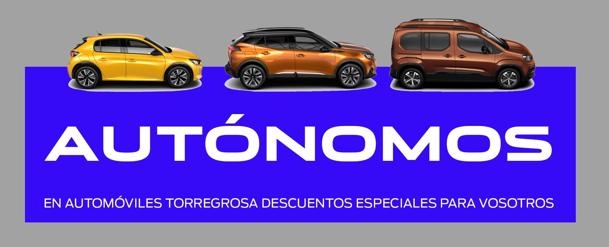 OFERTA ESPECIAL AUTÓNOMOS EN AUTOMÓVILES TORREGROSA
