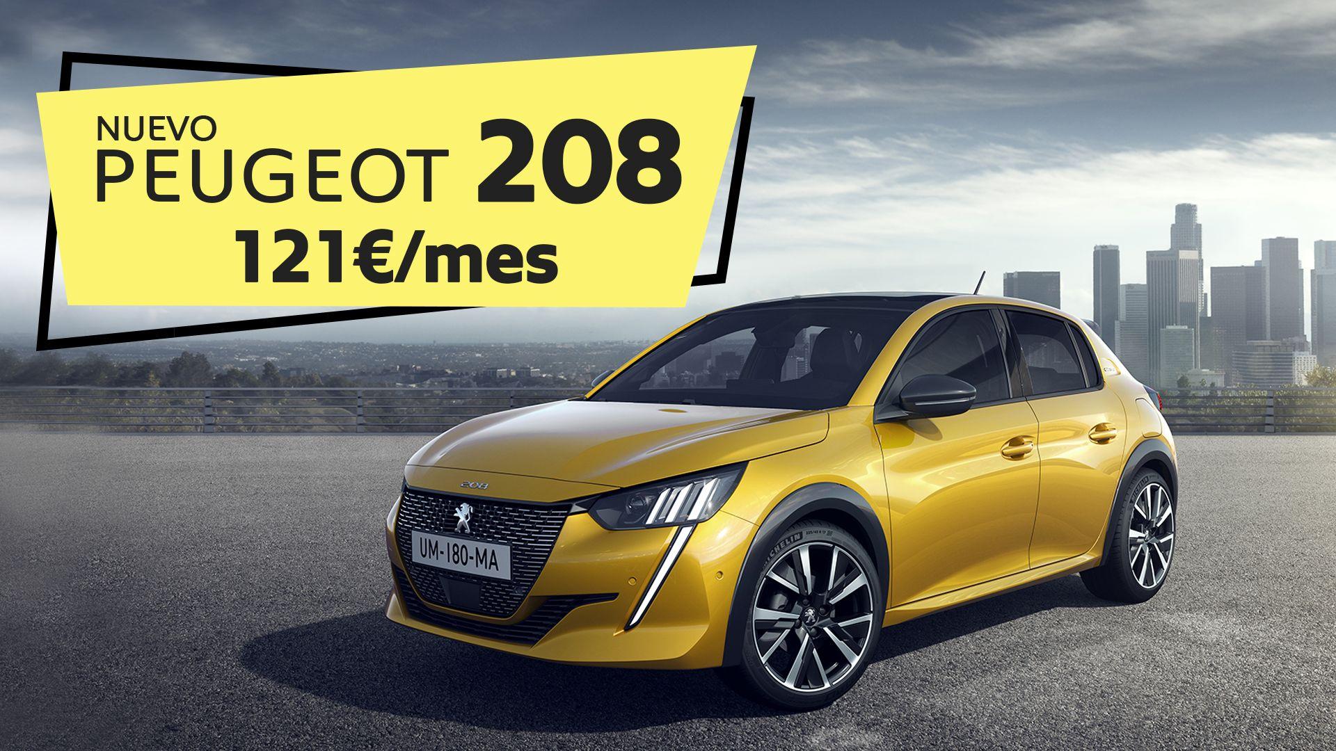 Estrena el nuevo Peugeot 208 Active 100cv por 121€/mes