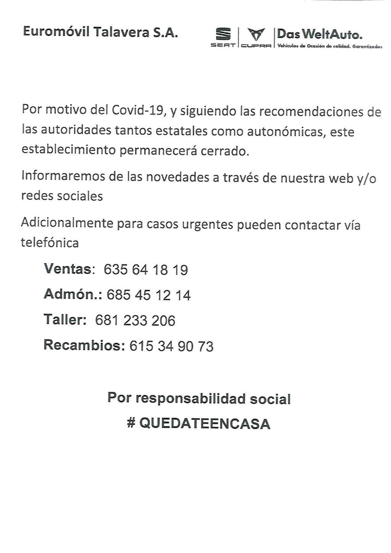 QUÉDATE EN CASA- Coronavirus COVID-19
