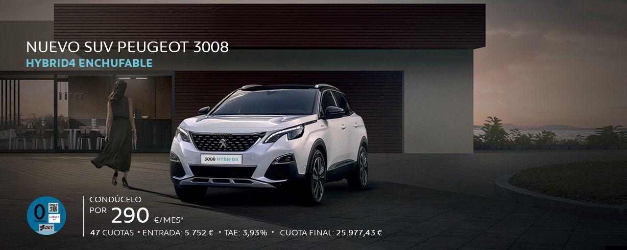 Descubre la versión híbrida enchufable del SUV 3008 disponible en HYBRID4