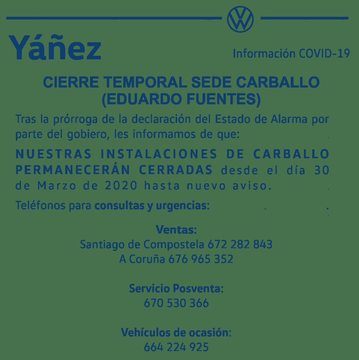 COVID19 Cierre Carballo